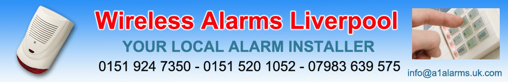 Wireless Alarms,Liverpool,Merseyside,A1 Alarms,home security installed from only £299,wire free alarm